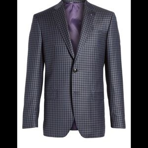 Ted Baker Jay Trum Fit Check Wool Sport Coat